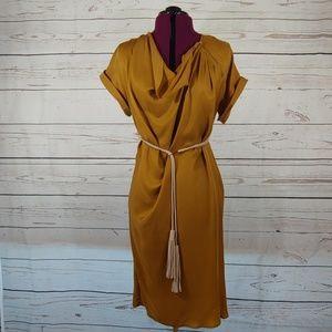 Max Mara gold dress size 8